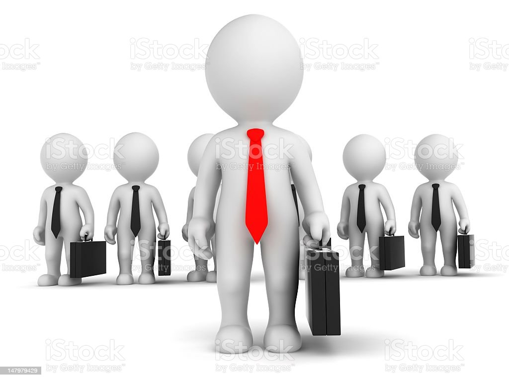 Business Team with leader stock photo