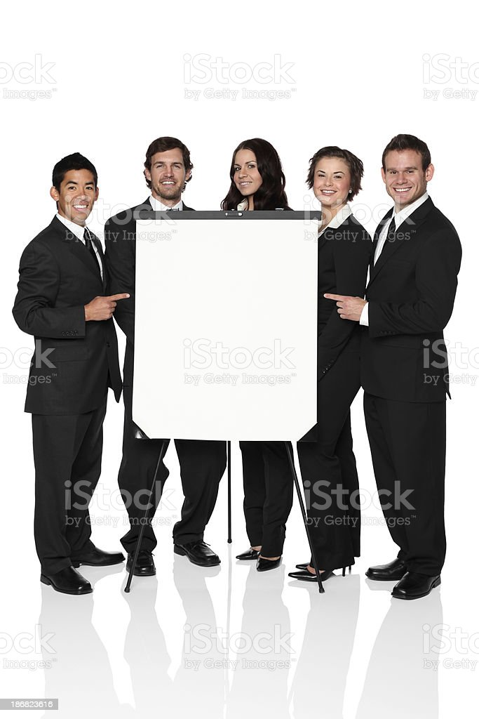 Business team with presentation board royalty-free stock photo
