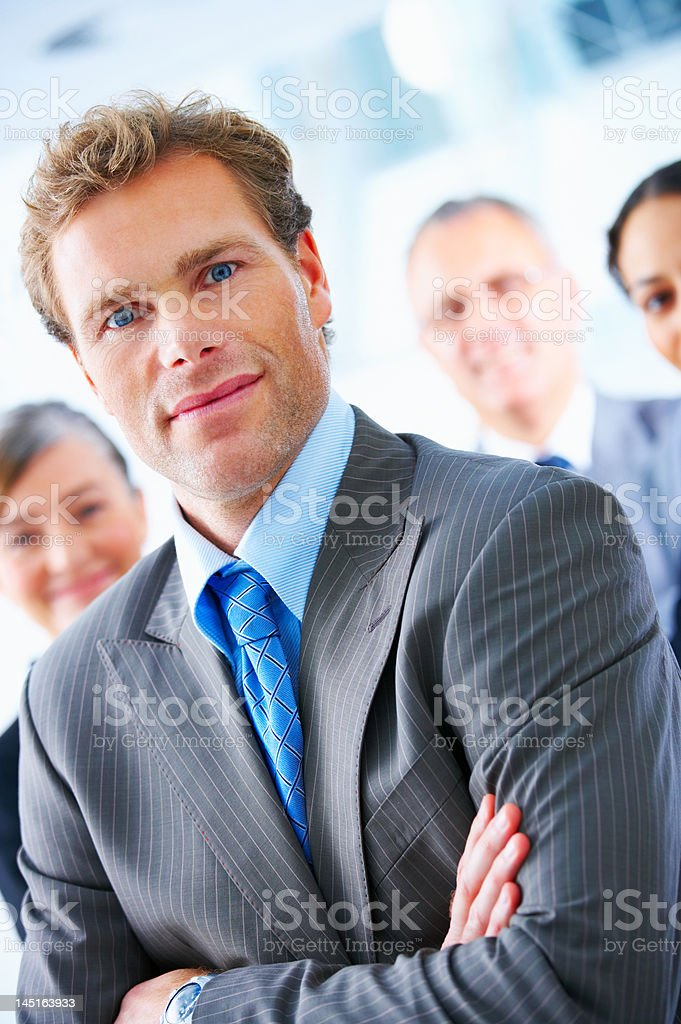 Business team with their leader royalty-free stock photo