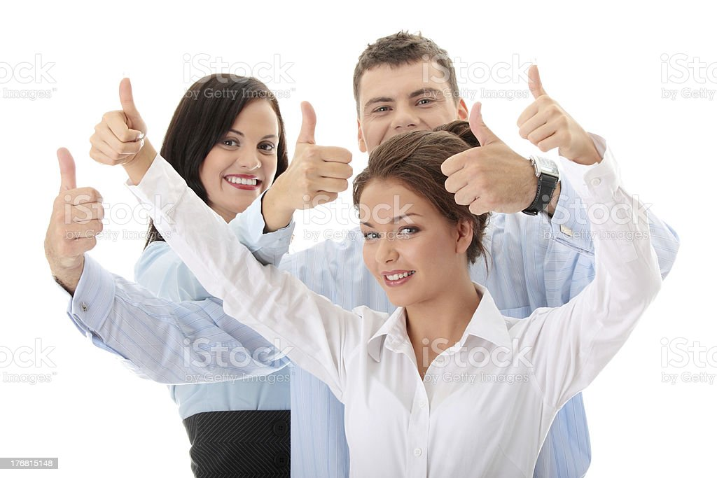 Business team with thumbs up royalty-free stock photo