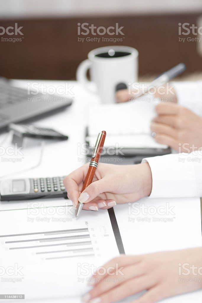 Business team working in office environment royalty-free stock photo