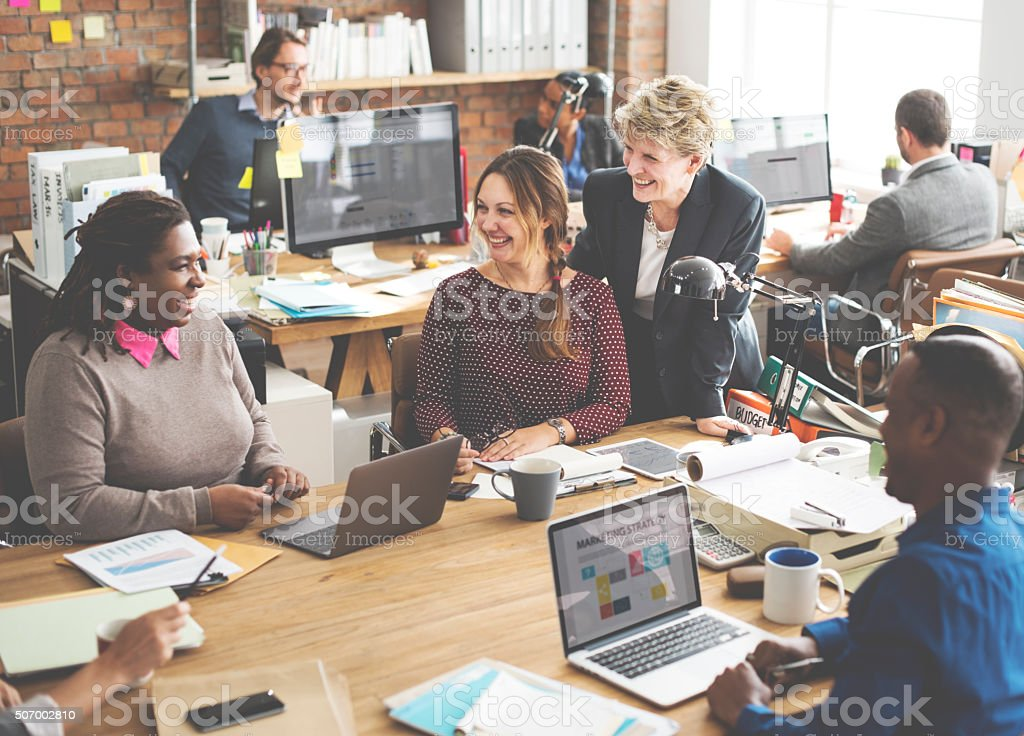 Business Team Working Office Worker Concept stock photo