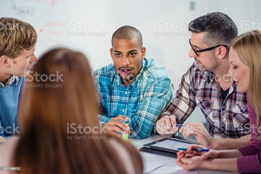 Business Team Working On A Project stock photo