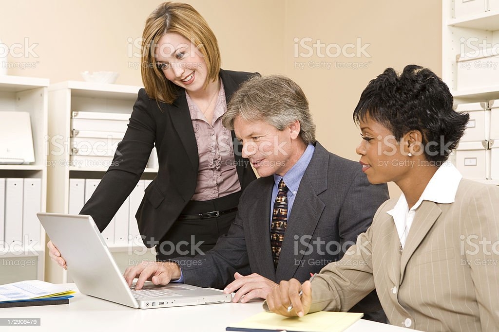 Business Team Working on Laptop royalty-free stock photo