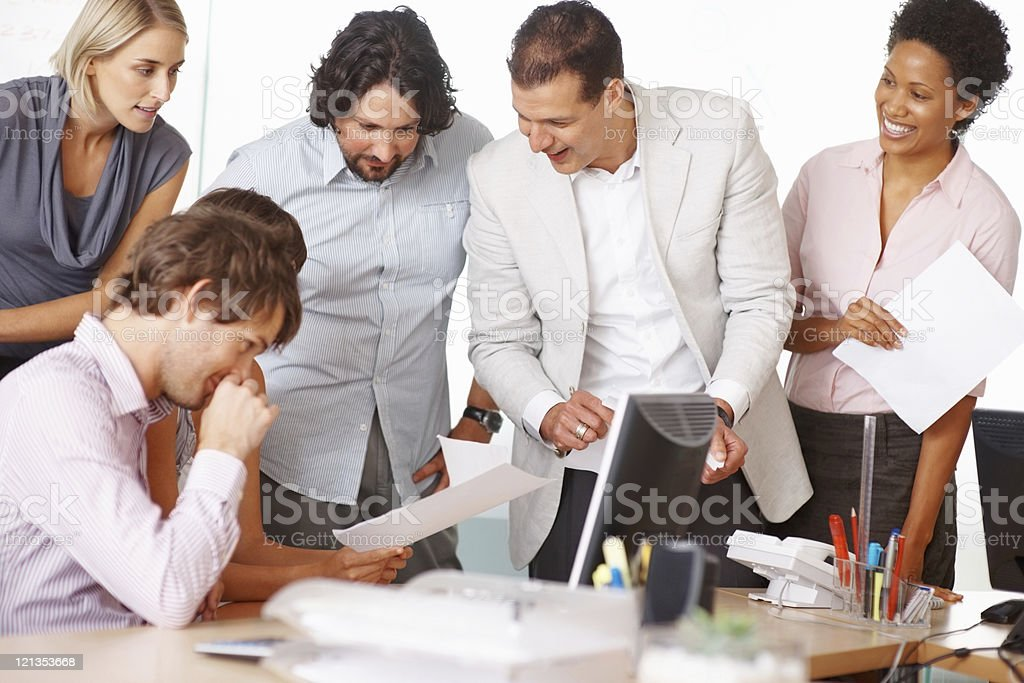 Business team working on project royalty-free stock photo