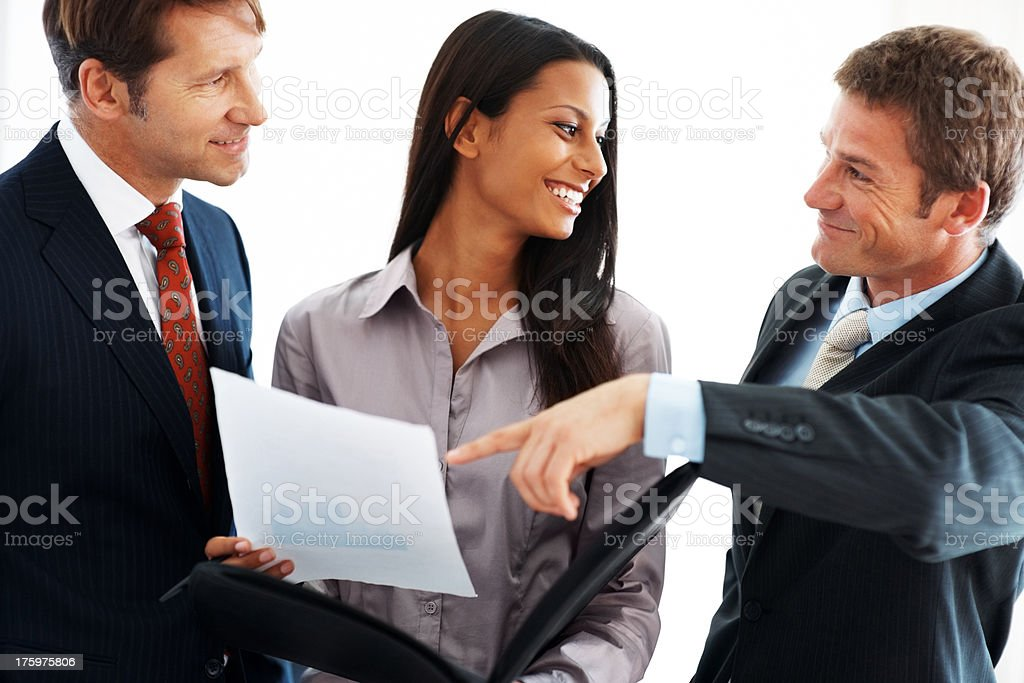 Business team working together at office stock photo