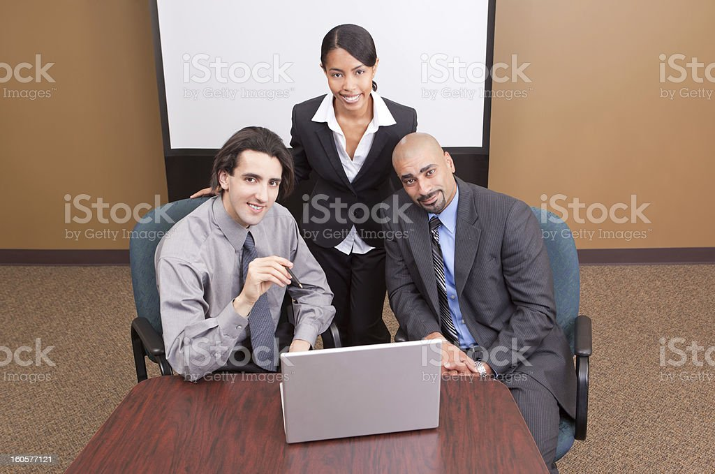 Business team-overhead view royalty-free stock photo