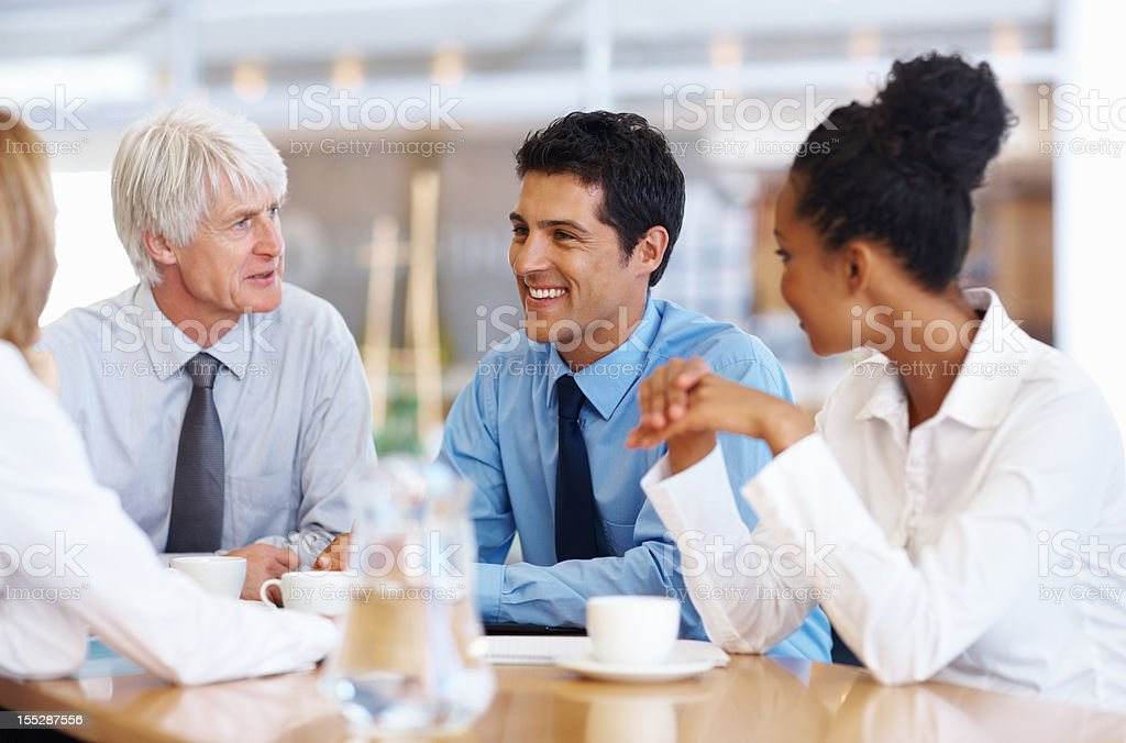 Business team's ideas moving forward royalty-free stock photo