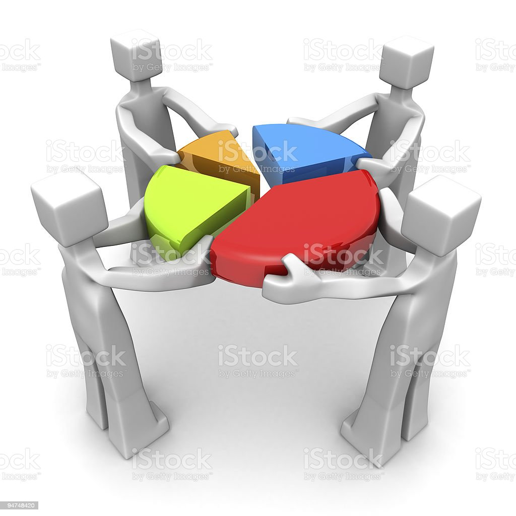 Business teamwork and performance achievement concept stock photo