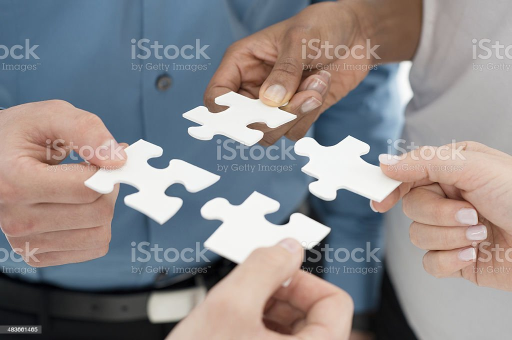 Business teamwork concept stock photo