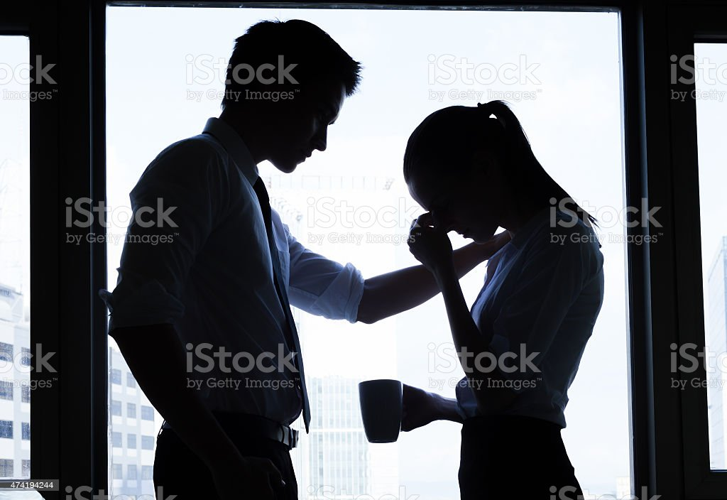 Business, teamwork, crisis concept stock photo