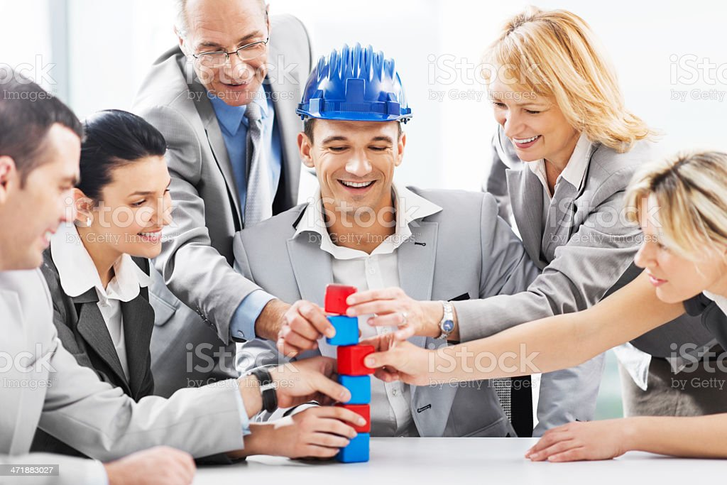 Business teamwork. royalty-free stock photo
