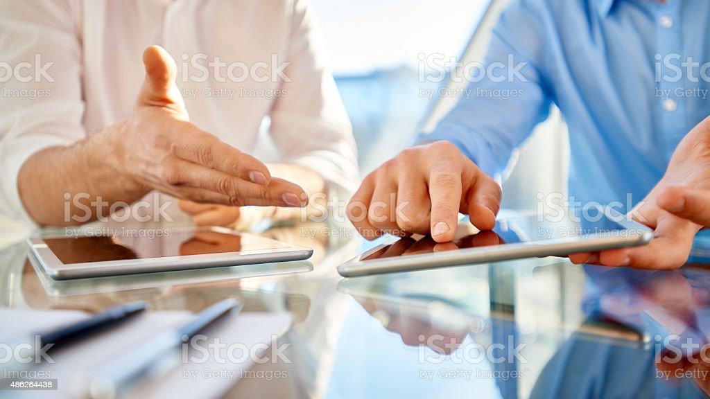 Business technology stock photo