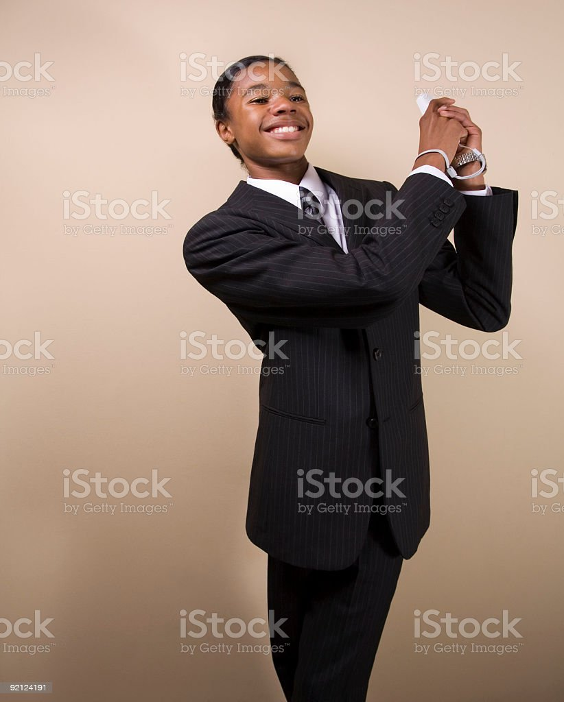 Business Teen Gamer Golfer royalty-free stock photo