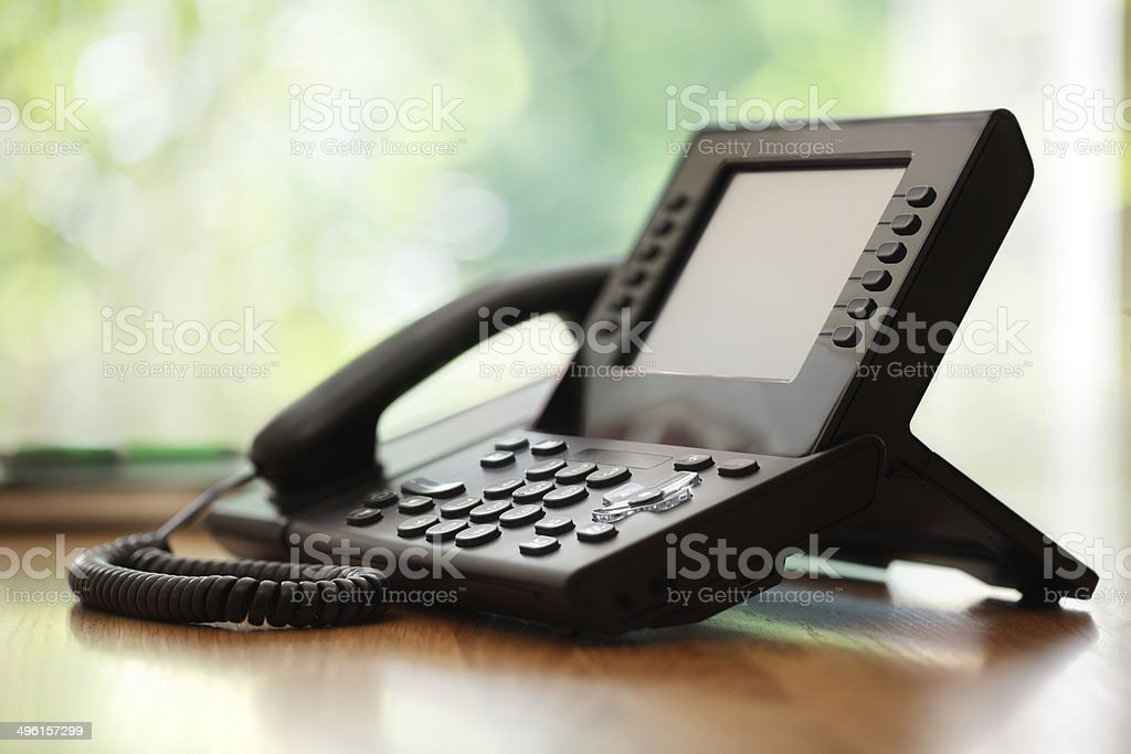 Business telephone stock photo