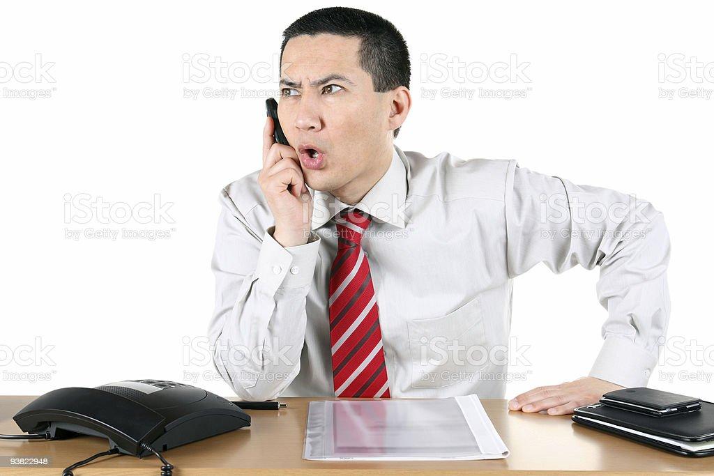 Business Telephone Speaking stock photo
