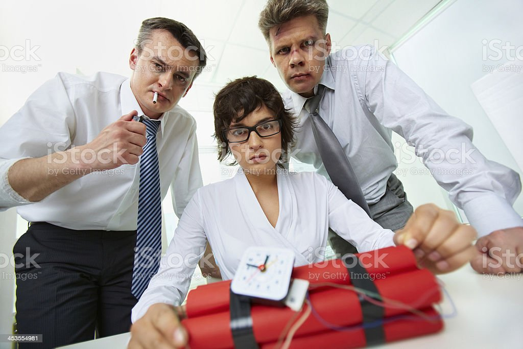 Business terrorists royalty-free stock photo