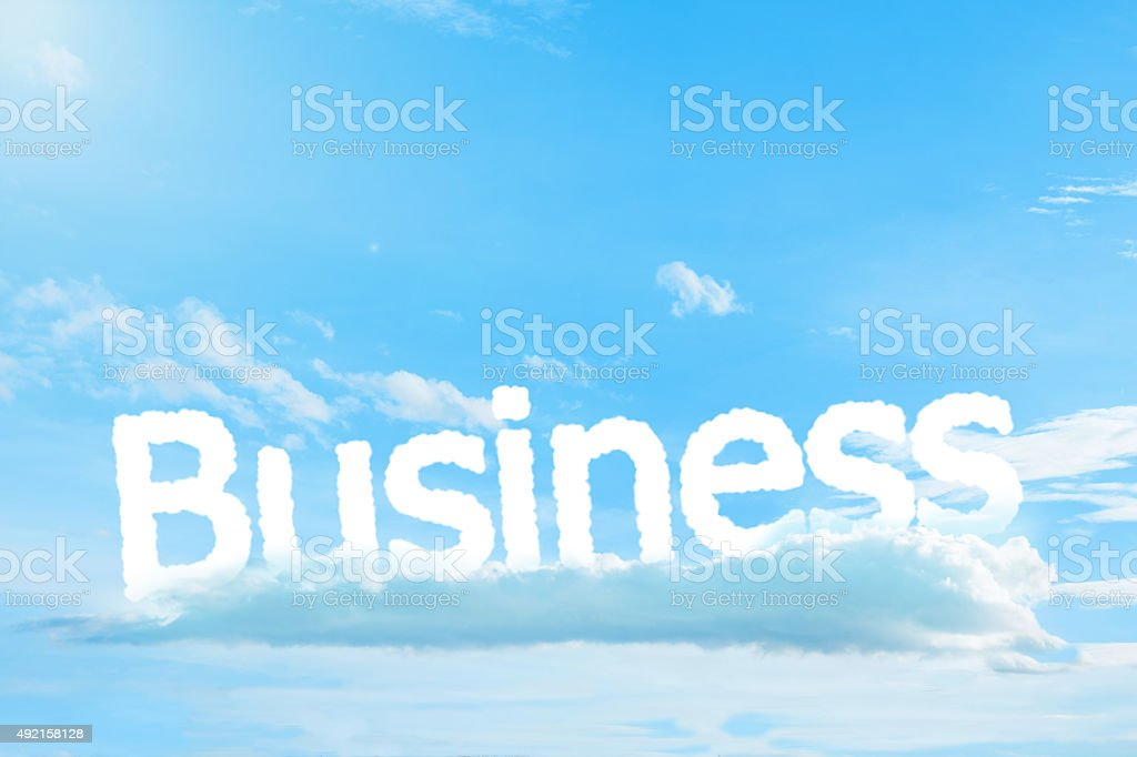 Business text cloud stock photo