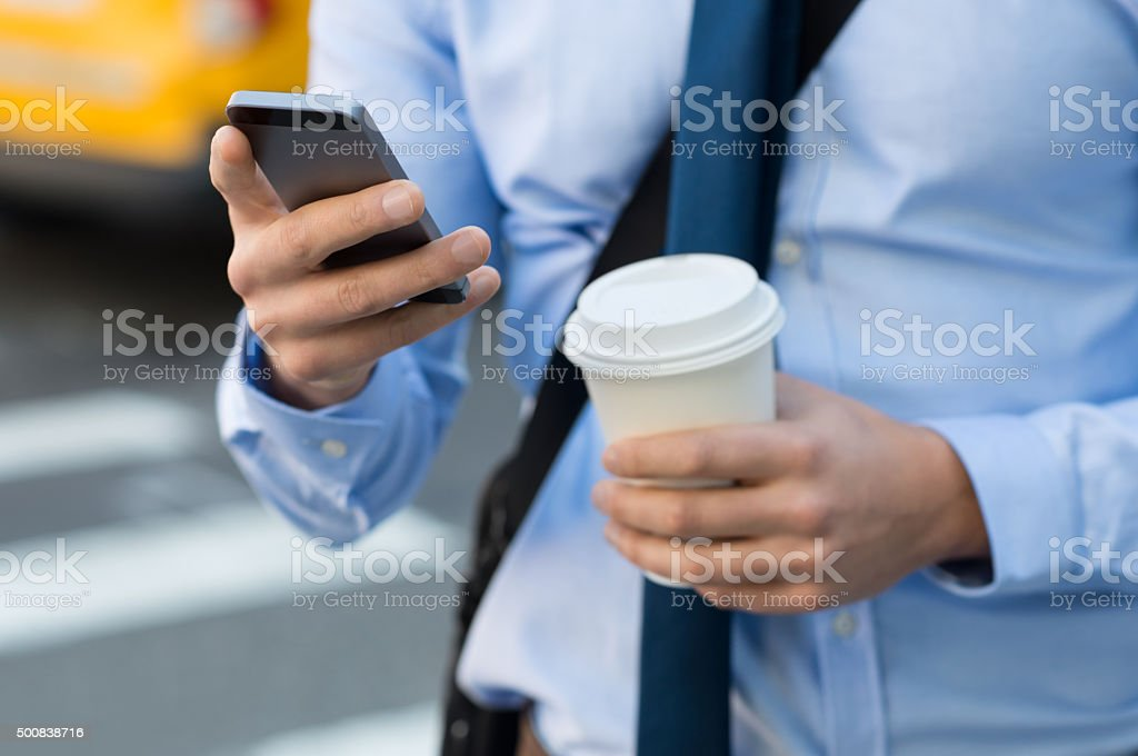 Business text message stock photo