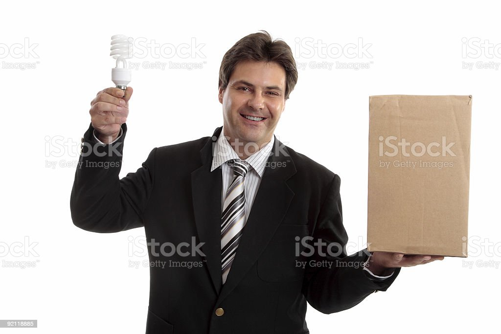 Business - Think outside the box royalty-free stock photo