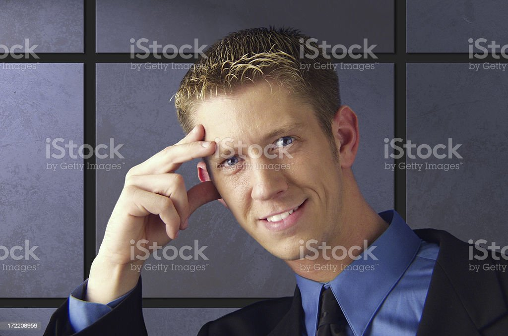 business tile royalty-free stock photo