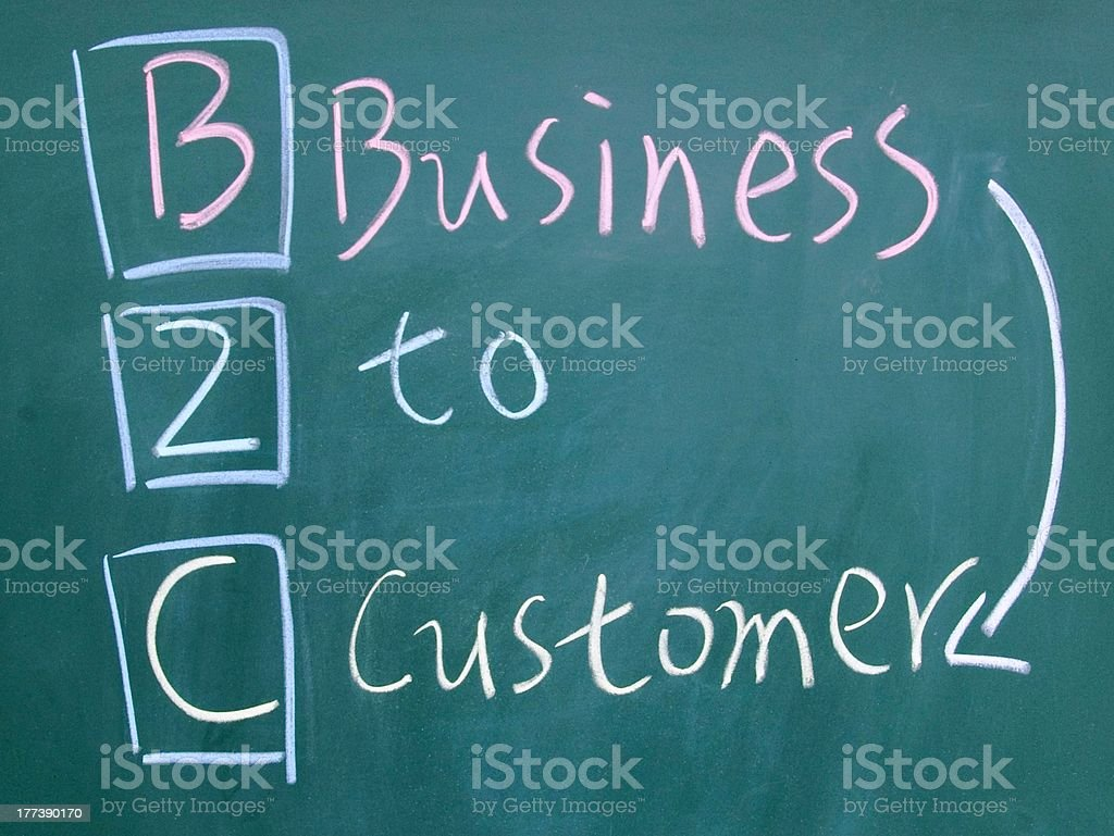 business to customer symbol royalty-free stock photo