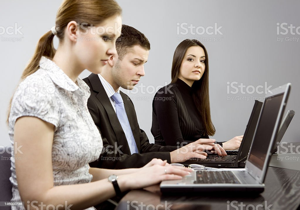 Business together royalty-free stock photo