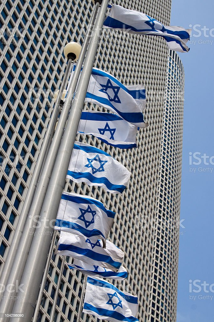 Business tower in Azrieli Center in Tel-Aviv royalty-free stock photo