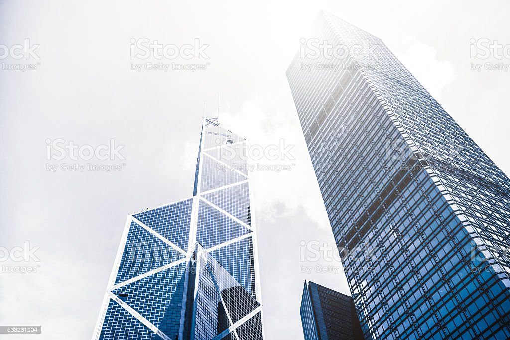 Business Towers in Hong Kong stock photo