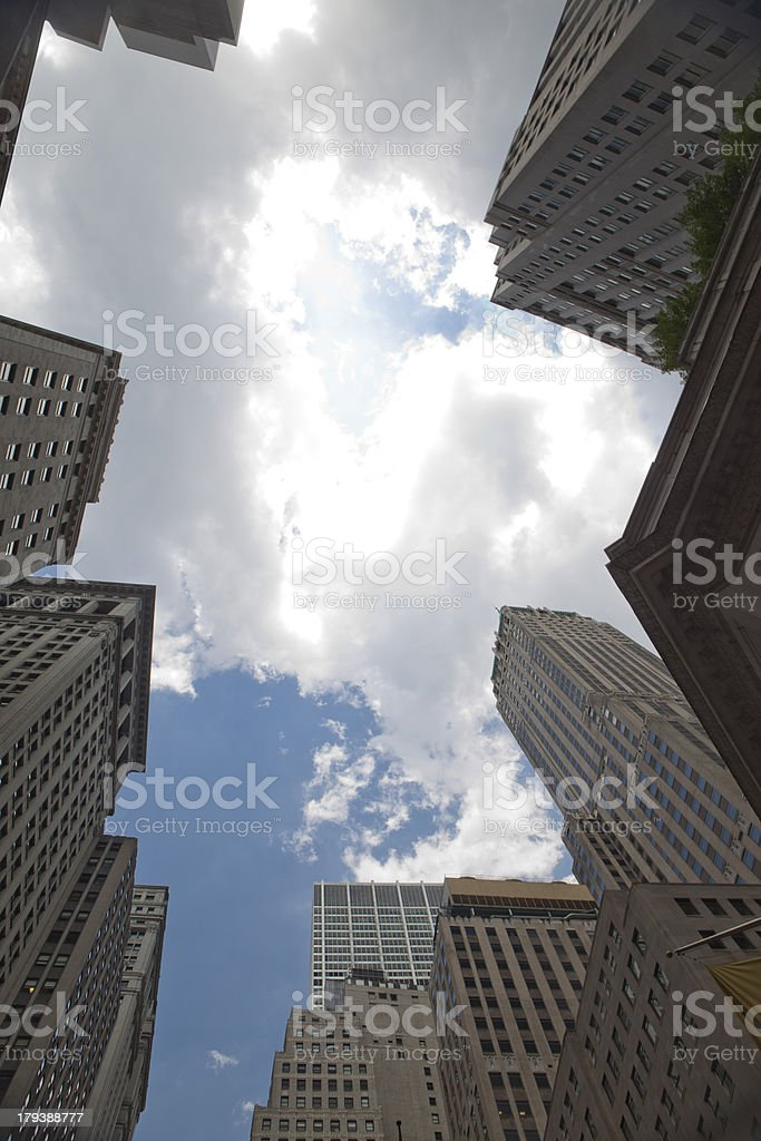 Business towers in New York City. stock photo