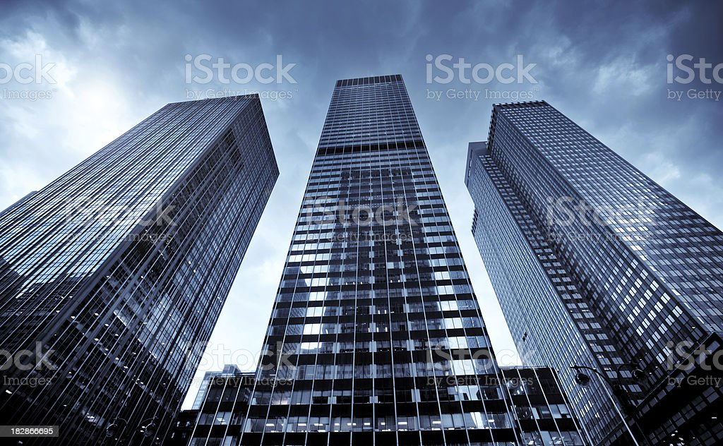 Business towers in New York City royalty-free stock photo