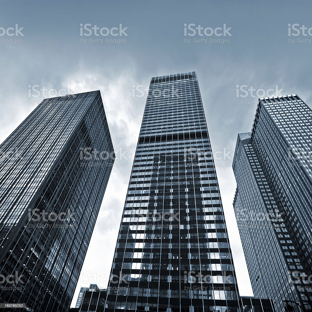 Business Towers in NYC royalty-free stock photo