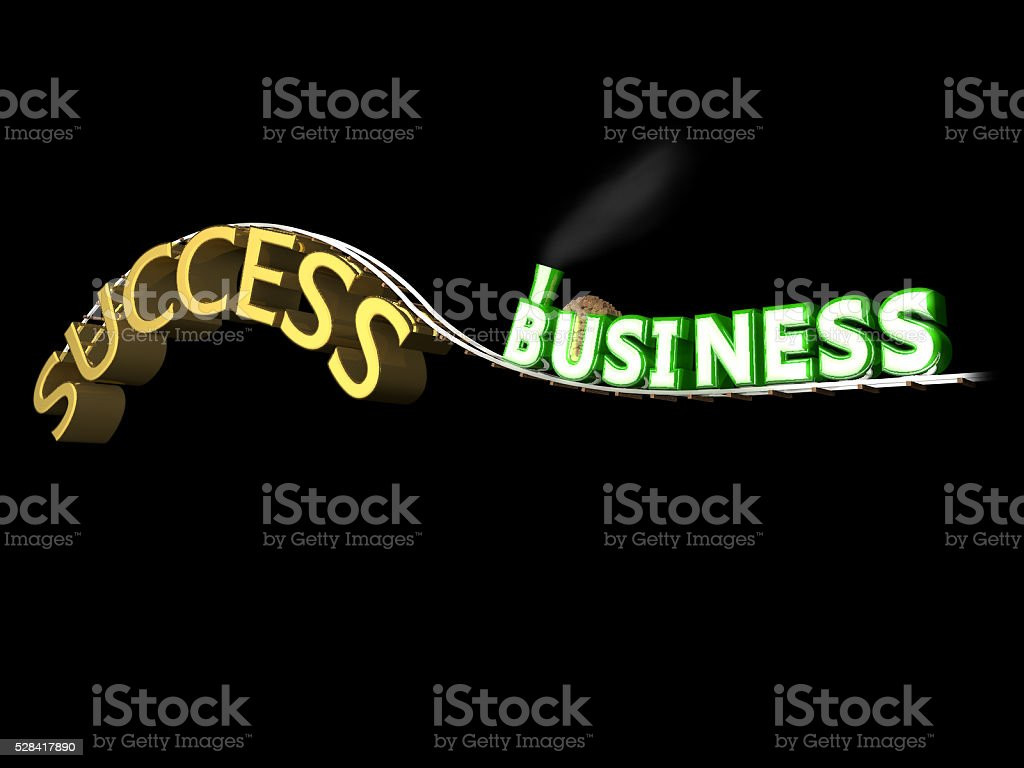 Business Train To Success stock photo