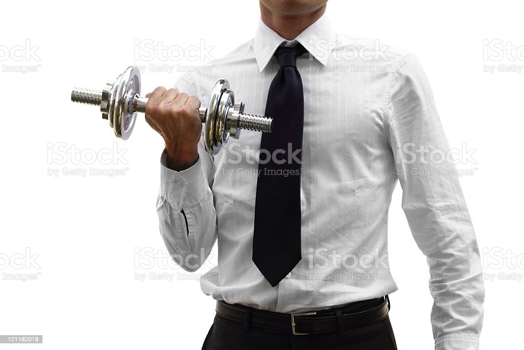 Business training (isolated on white) stock photo