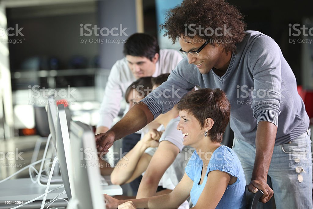 Business training royalty-free stock photo