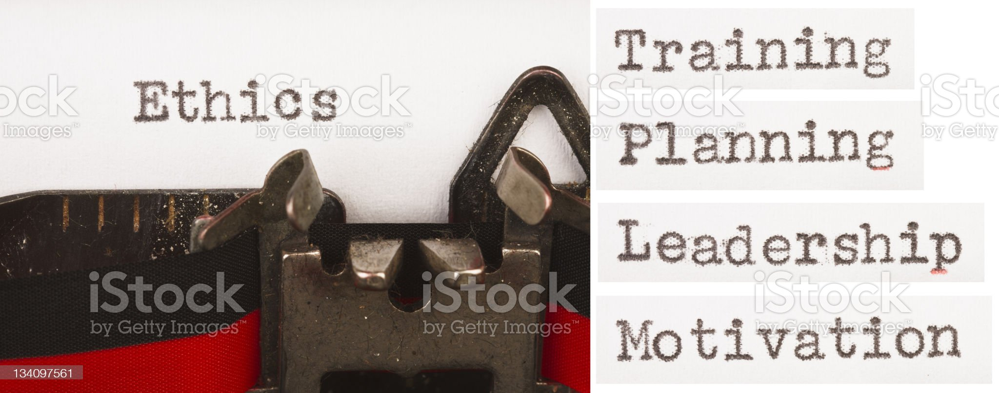 Business training words on typewriter royalty-free stock photo