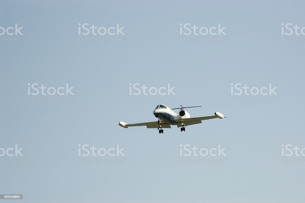 Business Travel by Private Jet royalty-free stock photo