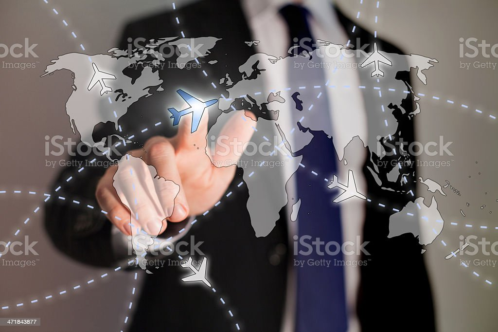 business travel concept stock photo