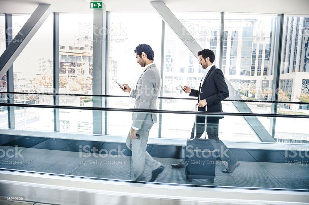 Business travel in Dubai stock photo