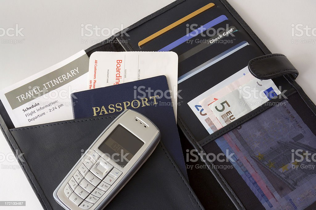 Business Travel Itinerary royalty-free stock photo