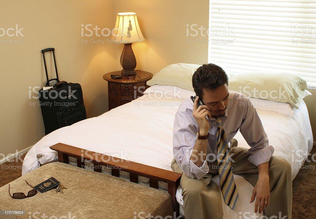 Business Traveler on Phone royalty-free stock photo