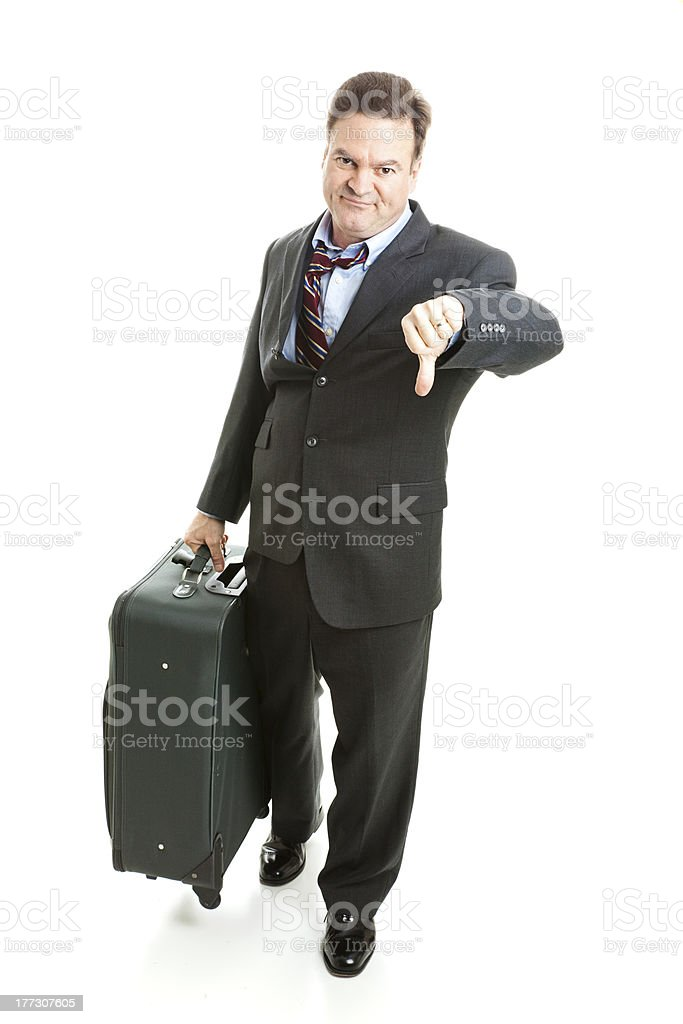Business Traveler- Unhappy royalty-free stock photo