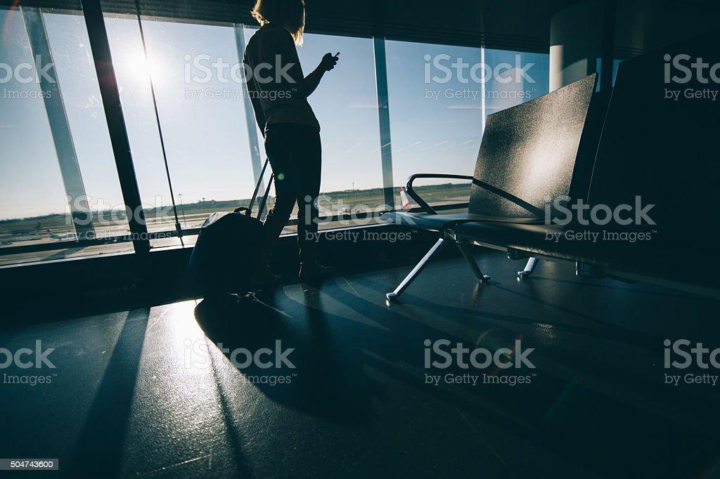 Business traveller stock photo