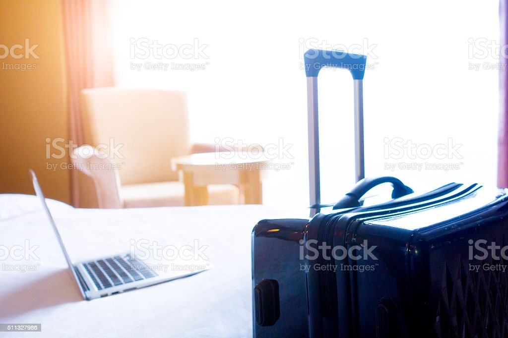 Business trip in Hotel stock photo