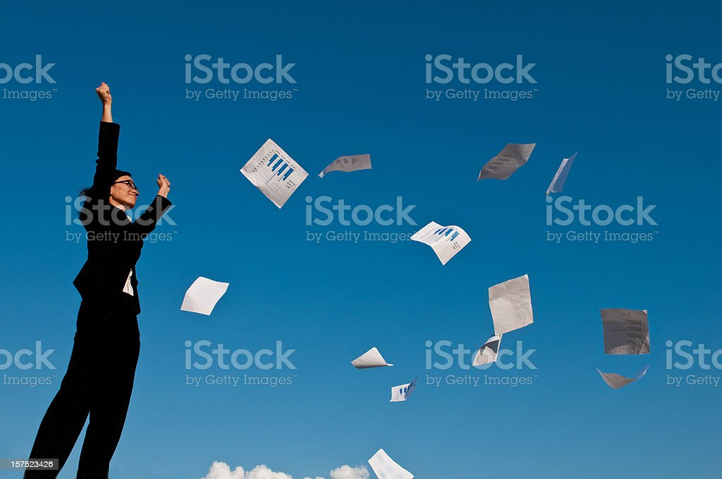 Business Triumph stock photo