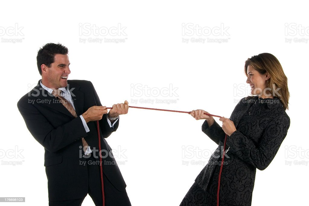Business: tug of war royalty-free stock photo
