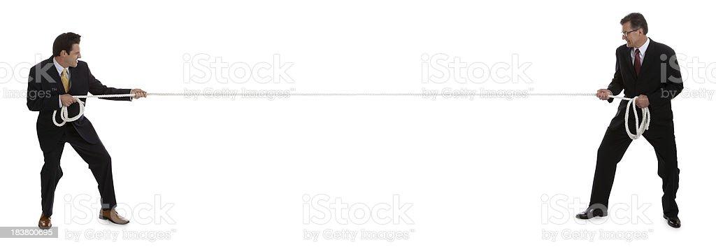 Business Tug of War stock photo