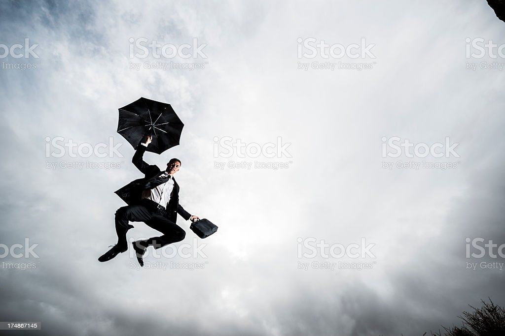 business umbrella stock photo