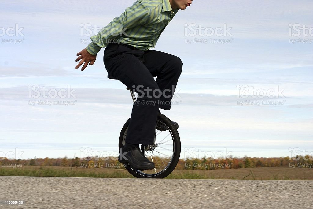 Business Unicycle Balance stock photo