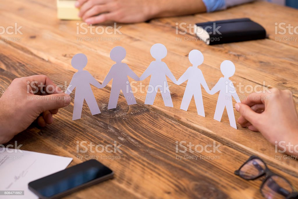 Business unity concept stock photo